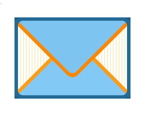 Large Mail Envelope Symbol on Blue Sky Background
